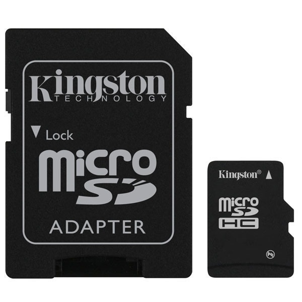 Carte mémoire Kingston microSD 16 Go High Capacity Class 10 + adaptateur SDHC Kingston microSD 16 Go High Capacity Class 10 + adaptateur SDHC (garantie 10 ans par Kingston)