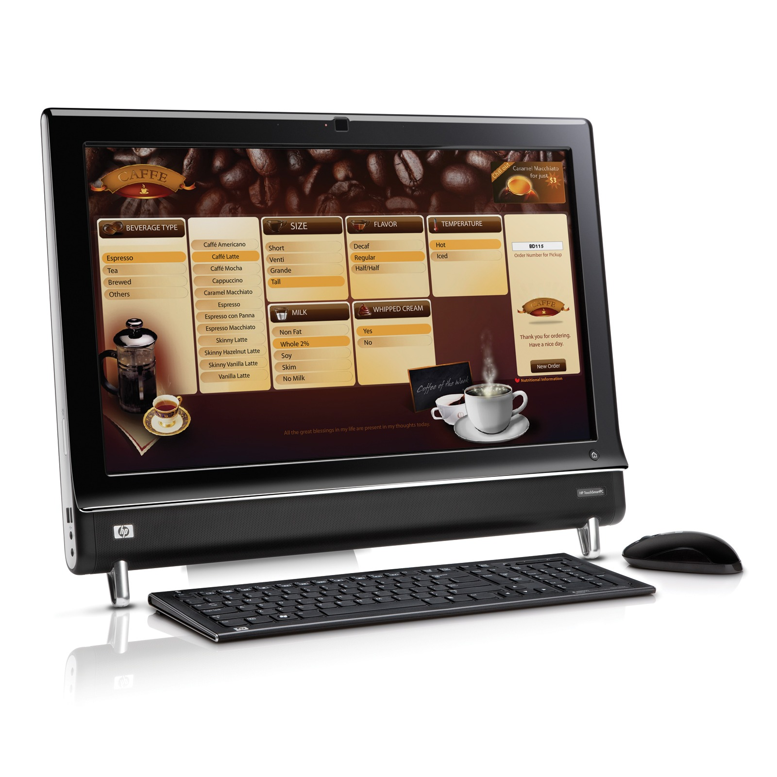 hp touchsmart 600 1130fr pc de bureau hp sur. Black Bedroom Furniture Sets. Home Design Ideas