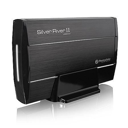 """Boîtier disque dur Thermaltake Silver River II 3.5"""" USB 2.0 Thermaltake Silver River II 3.5"""" - Boîtier externe pour disque dur 3""""1/2 SATA sur port USB 2.0"""