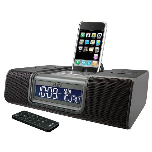 Dock & Enceinte Bluetooth iHOME iP9 Radio-réveil stéréo pour iPod/iPhone (coloris noir)