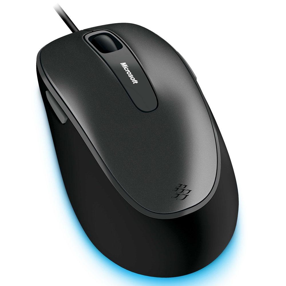 Souris PC Microsoft Hardware for Business Comfort Mouse 4500 Noire Souris filaire - ambidextre - capteur optique 1000 dpi - 5 boutons programmables