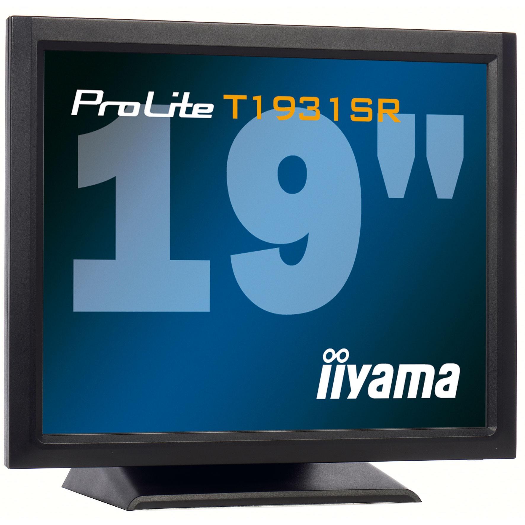 "Ecran PC iiyama 19"" LCD Tactile - ProLite T1931SR-1 1280 x 1024 pixels - 5 ms - Format 4/3 - Noir"
