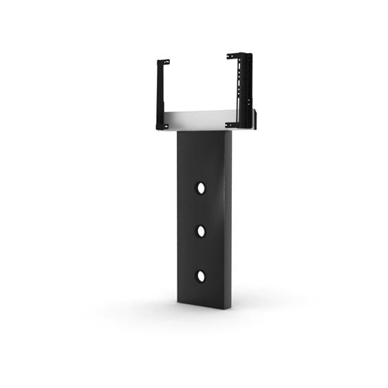 Elmob foot fx 30 noir meuble tv elmob sur for Meuble tv 49 pouces