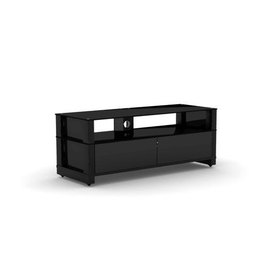 Elmob optima op 120 31 noir meuble tv elmob sur for Meuble mural videoprojecteur