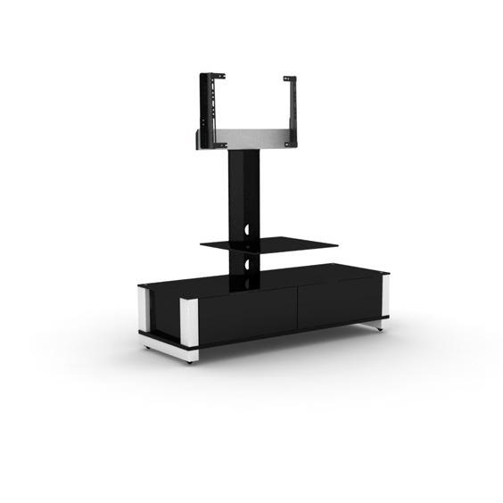 Elmob optima op 120 51 blanc meuble tv elmob sur for Meuble tv 49 pouces