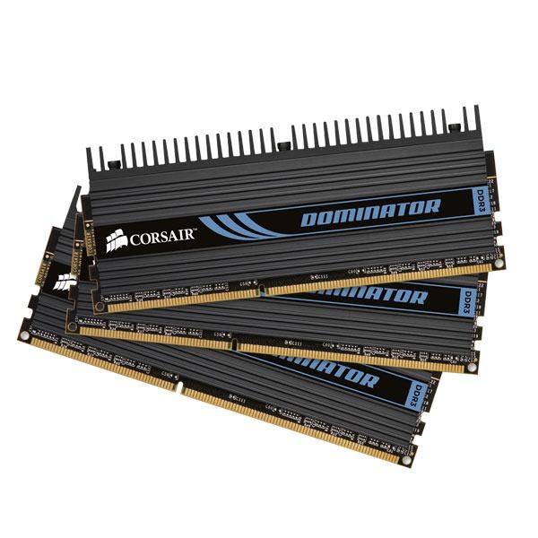 Mémoire PC Corsair Dominator 6 Go (3x 2 Go) DDR3 1600 MHz CL8 Kit Triple Channel RAM DDR3 PC12800 - CMP6GX3M3A1600C8 (garantie 10 ans par Corsair)