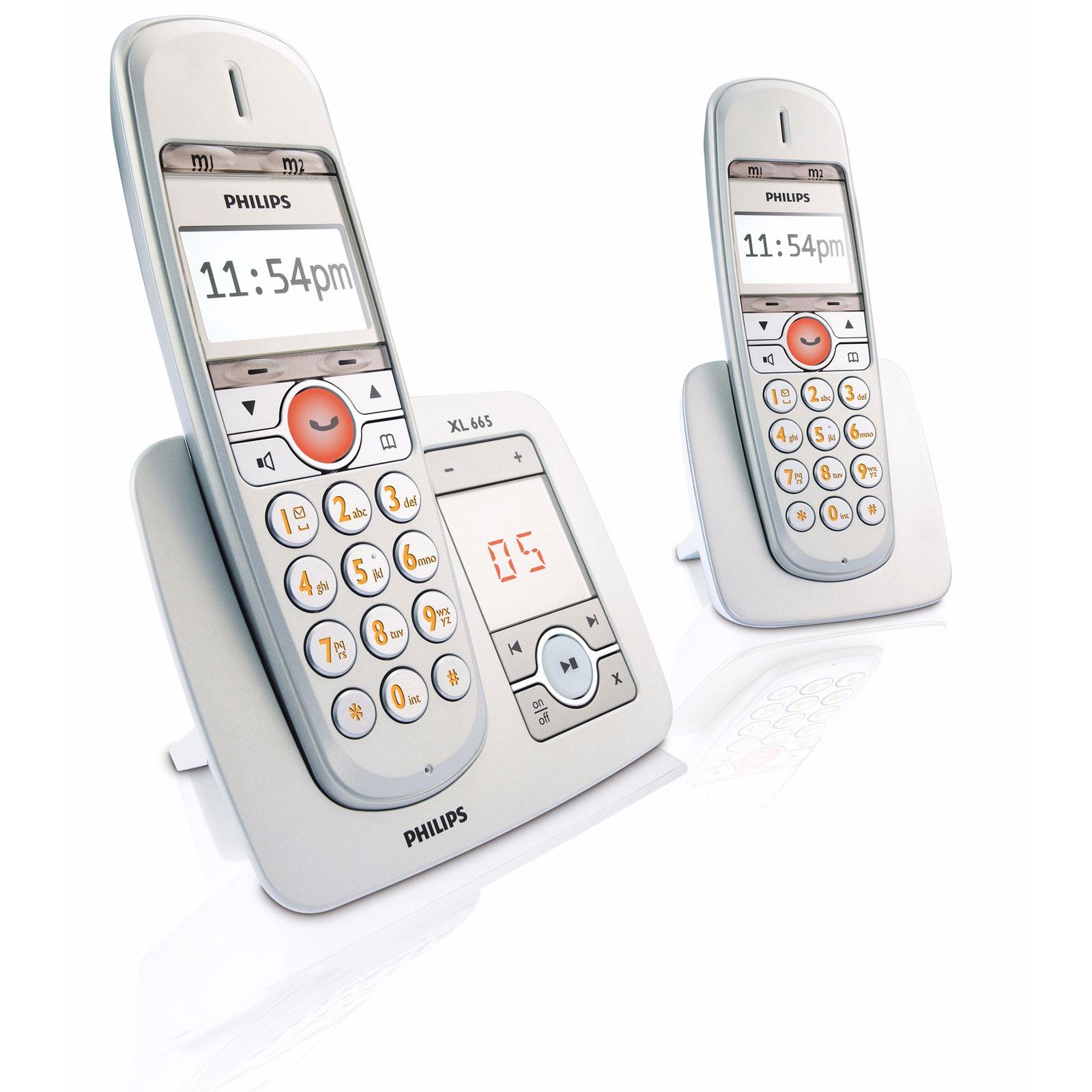 philips xl6652c t l phone sans fil philips sur. Black Bedroom Furniture Sets. Home Design Ideas