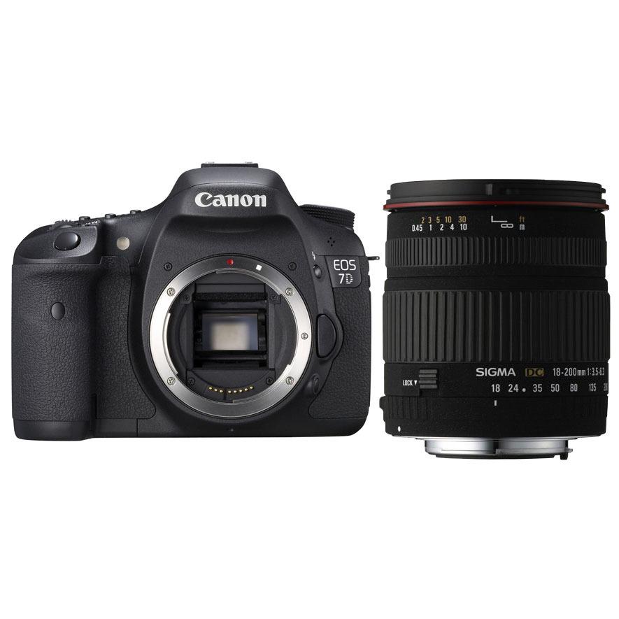 canon eos 7d sigma 18 200mm f3 5 6 3 dc appareil photo. Black Bedroom Furniture Sets. Home Design Ideas