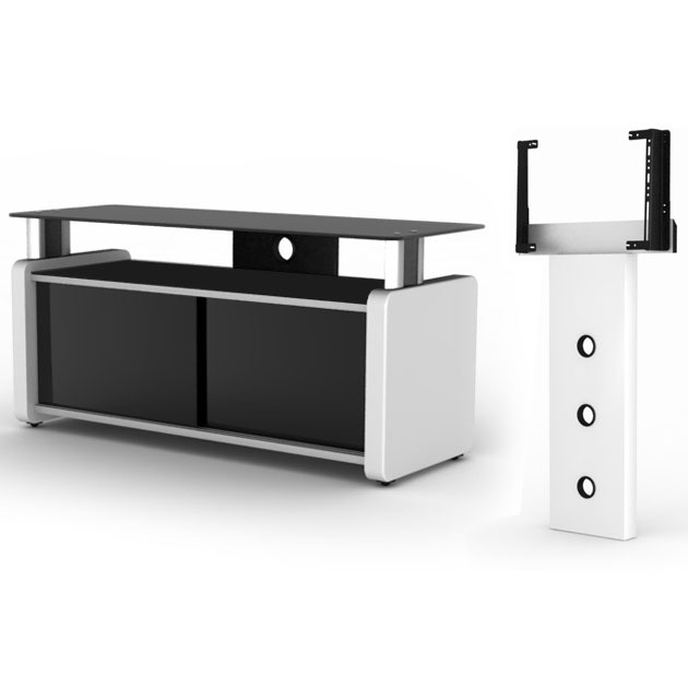 elmob karya ka 105 02 blanc elmob foot fx 30 blanc meuble tv elmob sur. Black Bedroom Furniture Sets. Home Design Ideas