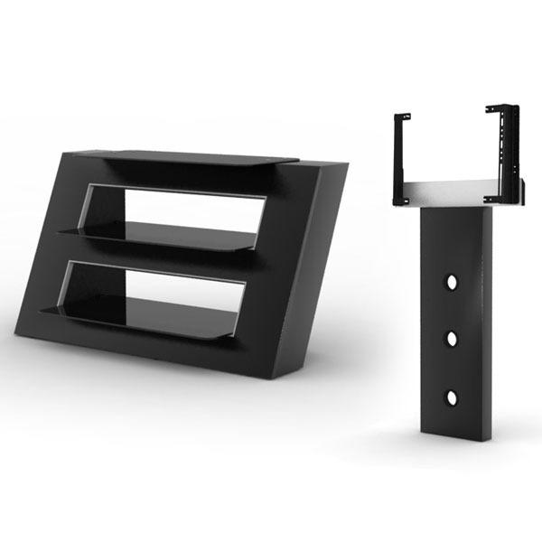 elmob alexa al 095 02 noir elmob foot fx 30 noir meuble tv elmob sur. Black Bedroom Furniture Sets. Home Design Ideas