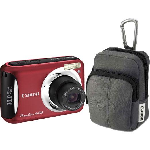 Appareil photo numérique Canon PowerShot A495 Rouge + Housse Canon DCC-480 Canon PowerShot A495 Rouge + Housse Canon DCC-480
