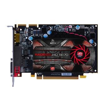 Carte graphique XFX ATI Radeon HD 5670 1 GB XFX ATI Radeon HD 5670 1 GB - 1 Go HDMI/DVI/DisplayPort - PCI Express (ATI Radeon HD 5670)