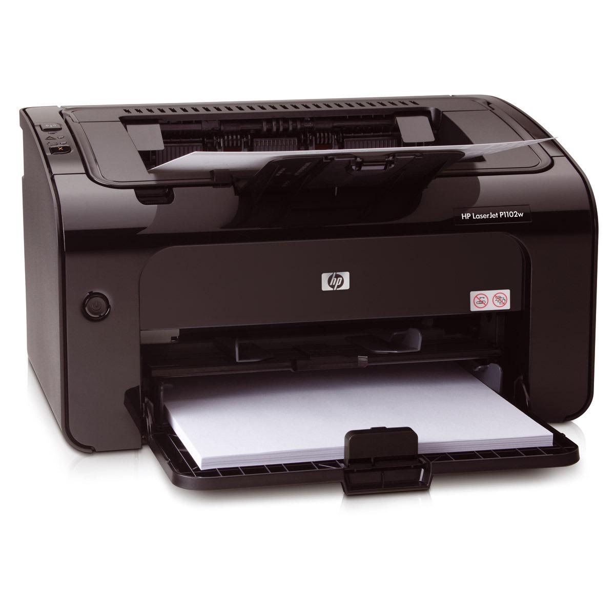 Imprimante laser HP LaserJet P1102w HP LaserJet P1102w - Imprimante laser monochrome (USB 2.0 / Wi-Fi B/G)