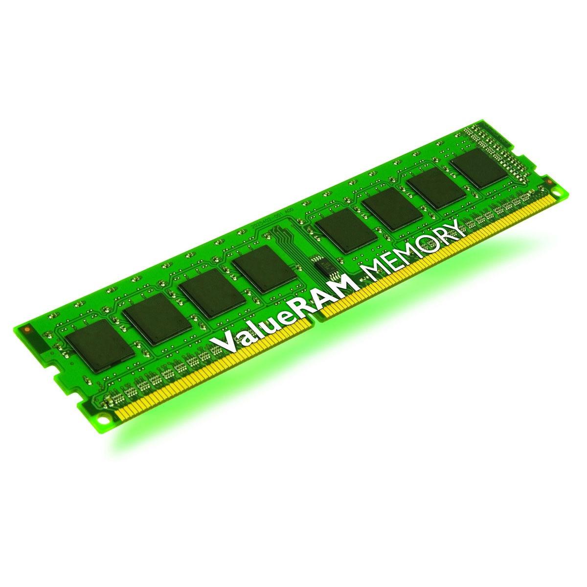 Mémoire PC Kingston ValueRAM 4 Go DDR3 1333 MHz ECC Registered Kingston ValueRAM 4 Go DDR3-SDRAM PC3-10600 ECC Registered CL9 - KVR1333D3D8R9S/4G (garantie 10 ans par Kingston)