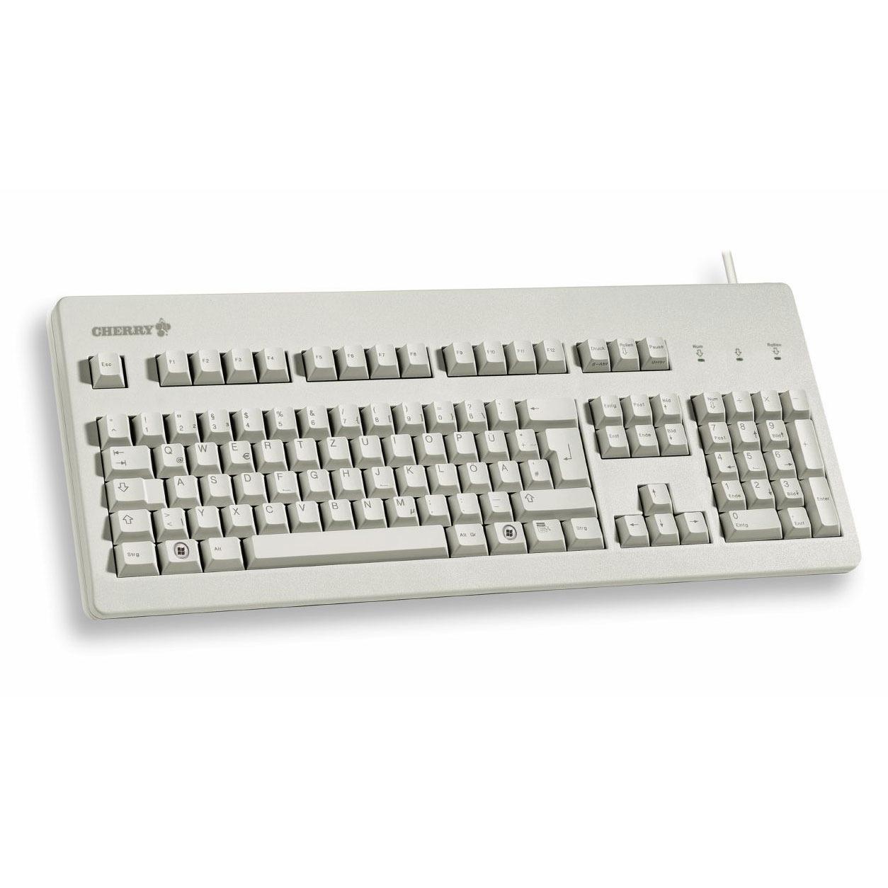 cherry g803000 gris clavier pc cherry sur ldlccom