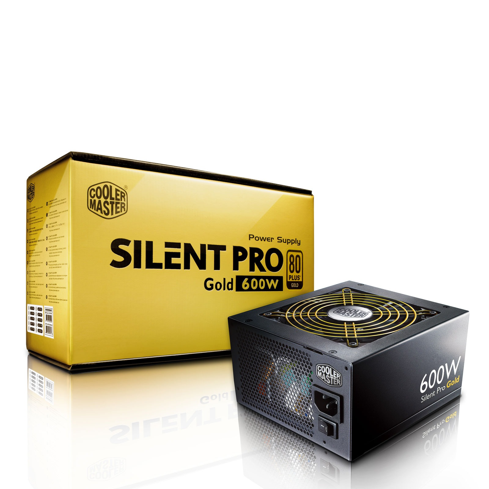 Alimentation PC Cooler Master Silent Pro Gold 600W Modular 80PLUS Gold Alimentation modulaire 600W ATX12V V2.3 / EPS12V V2.92 - 80PLUS Gold