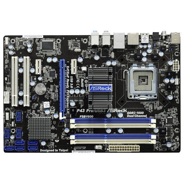 Carte mère ASRock P43 Pro/USB3 ASRock P43 Pro/USB3 (Intel P43 Express) - ATX