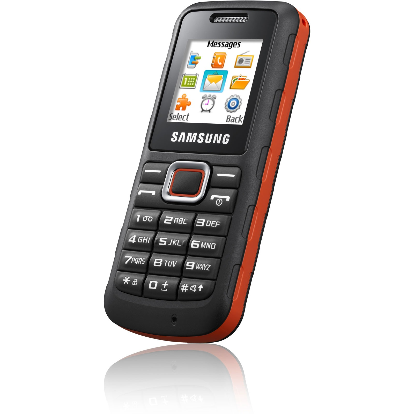 samsung e1130 noir orange mobile smartphone samsung. Black Bedroom Furniture Sets. Home Design Ideas
