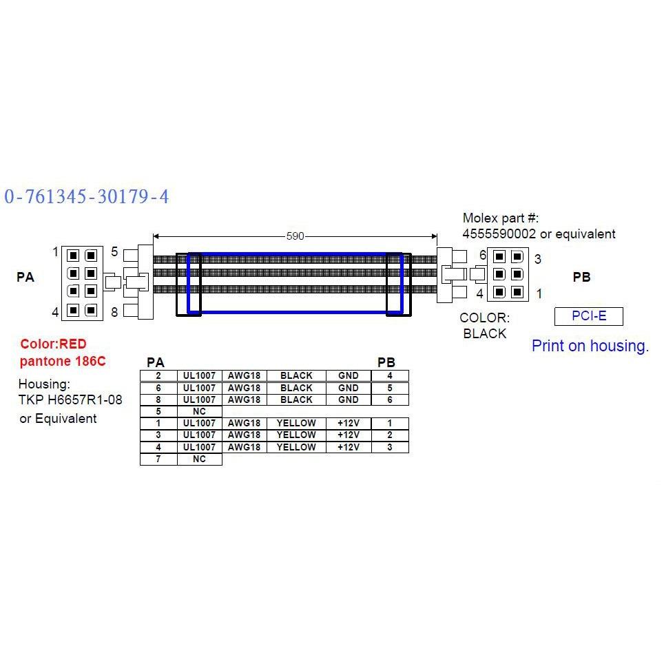 Antec C 226 Ble Modulaire Pci Express 6 Broches Pour
