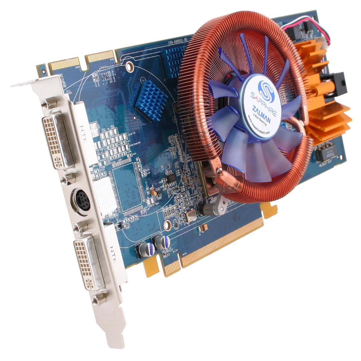 Carte graphique Sapphire Radeon Ultimate X1950 Pro 256 MB Sapphire Radeon Ultimate X1950 Pro 256 MB - 256 Mo TV-Out/Dual DVI - PCI Express (ATI Radon X1950 Pro)