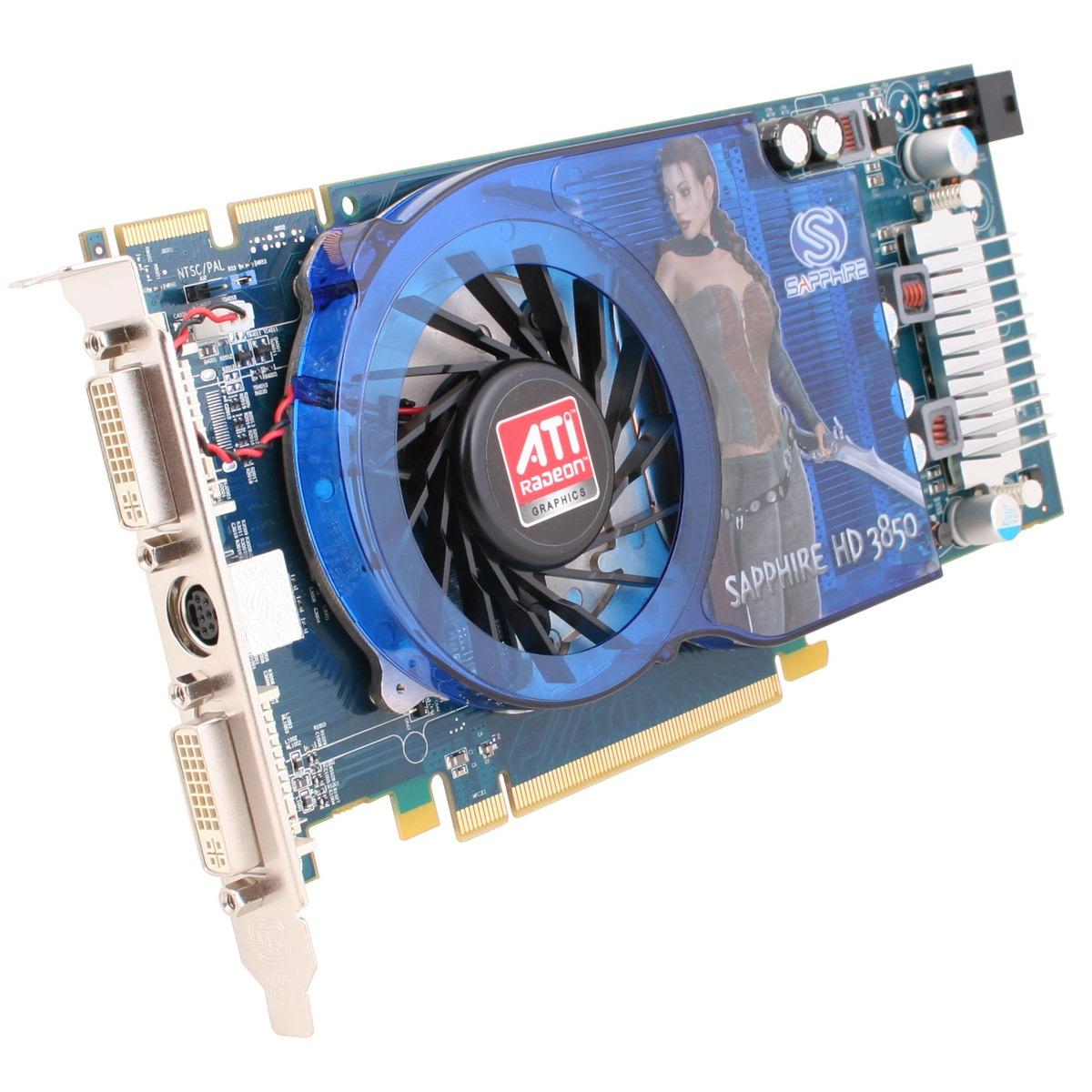 Carte graphique Sapphire Radeon HD 3850 512 MB Sapphire Radeon HD 3850 512 MB - 512 Mo TV-Out/Dual DVI - PCI Express (ATI Radeon HD 3850)