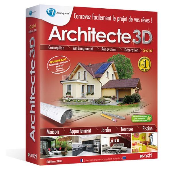 Architecte 3d nexgen 2011 gold avanquest france for Architecte 3d 2011 ultimate