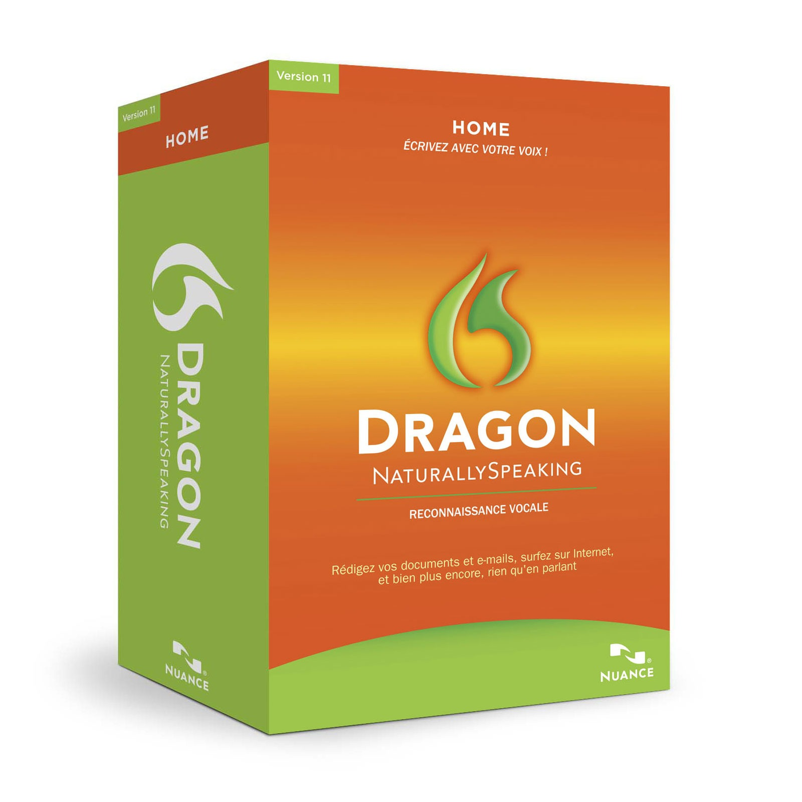 nuance dragon naturallyspeaking 11 home logiciel. Black Bedroom Furniture Sets. Home Design Ideas