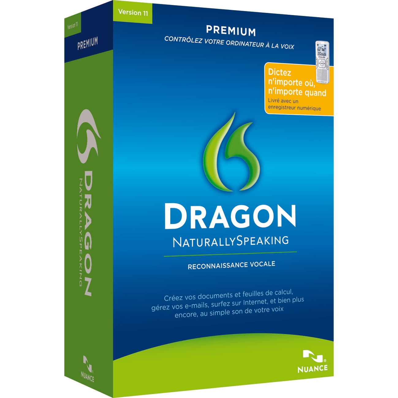 nuance dragon naturallyspeaking 11 premium mobile logiciel bureautique nuance sur. Black Bedroom Furniture Sets. Home Design Ideas