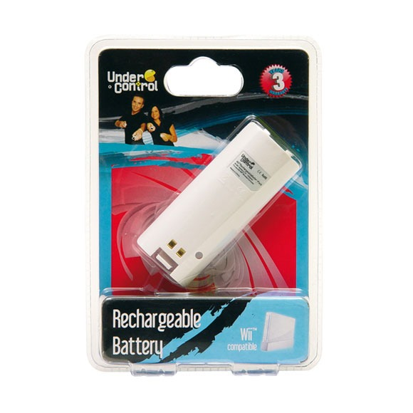 under control batterie rechargeable pour wiimote wii wii. Black Bedroom Furniture Sets. Home Design Ideas
