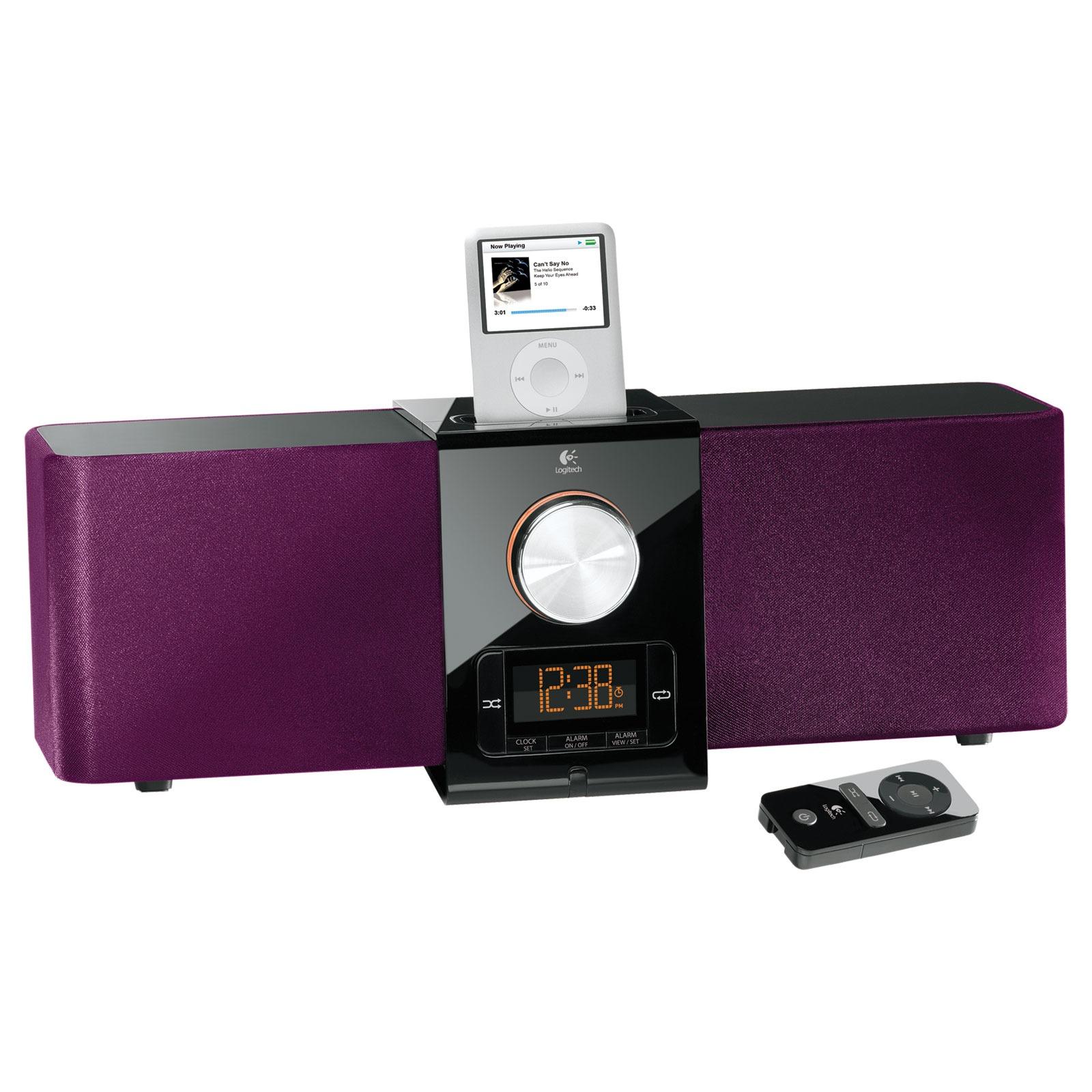 logitech pure fi express plus violet dock enceinte. Black Bedroom Furniture Sets. Home Design Ideas