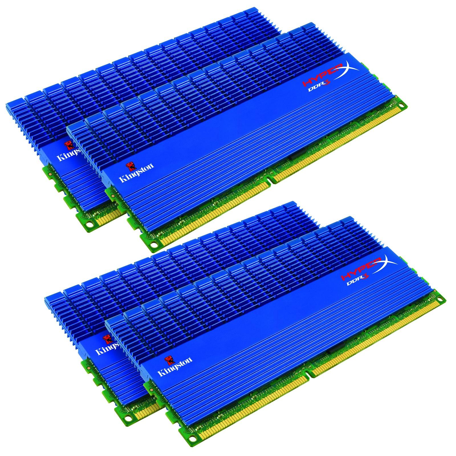 Mémoire PC Kingston XMP T1 16 Go (4x 4Go) DDR3 2000 MHz Kingston XMP T1 16 Go (kit 4x 4 Go) DDR3-SDRAM PC3-16000 CL9 - KHX2000C9D3T1K4/16GX (garantie 10 ans par Kingston)