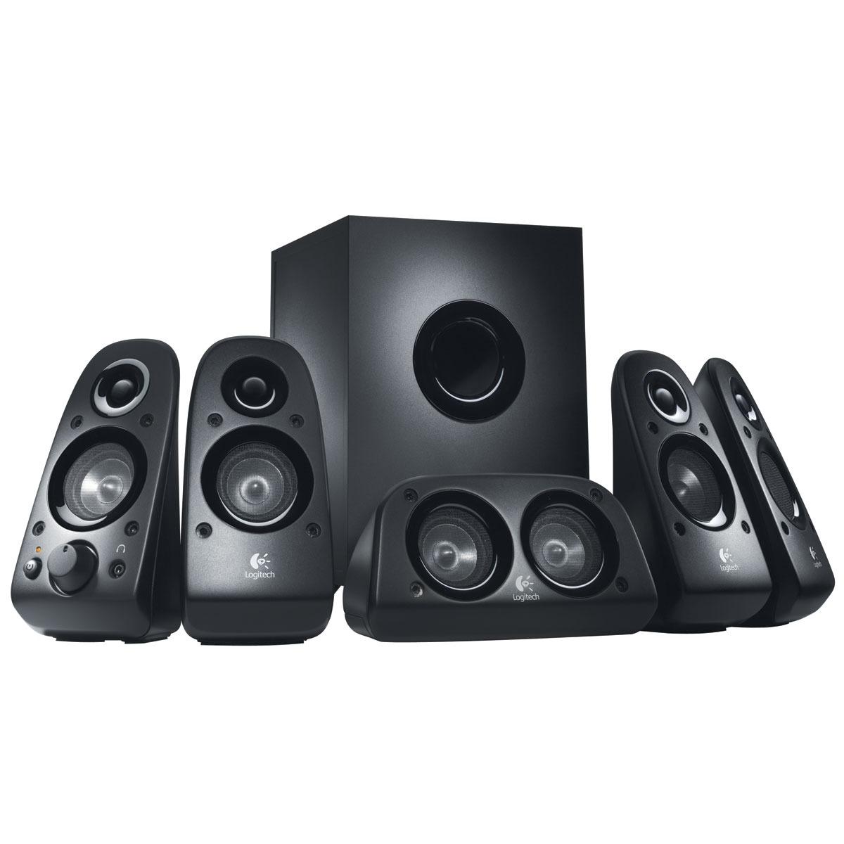 Enceinte PC Logitech Speaker System Z506 Ensemble 5.1 - 75 Watts - Jack 3.5 mm - compatible PS3 / Xbox 360 / Wii et iPod
