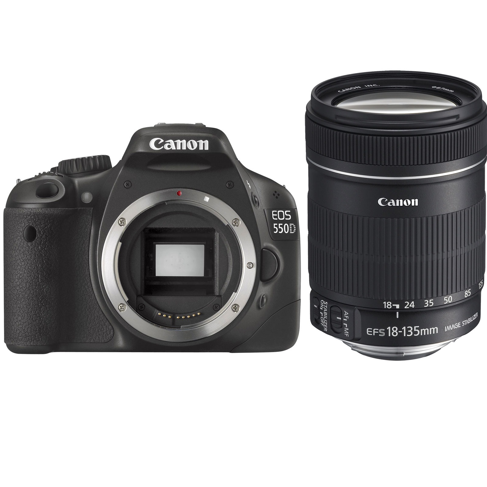 canon eos 550d objectif ef s 18 135 mm is appareil photo reflex canon sur. Black Bedroom Furniture Sets. Home Design Ideas