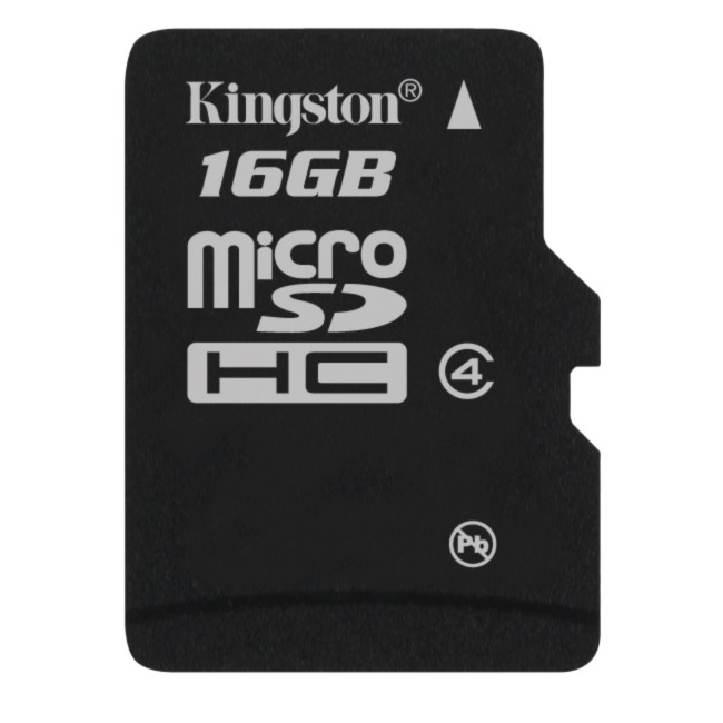 Carte mémoire Kingston microSDHC 16 GB Class 4 Carte mémoire microSDHC class 4 16 Go (garantie 10 ans par Kingston)