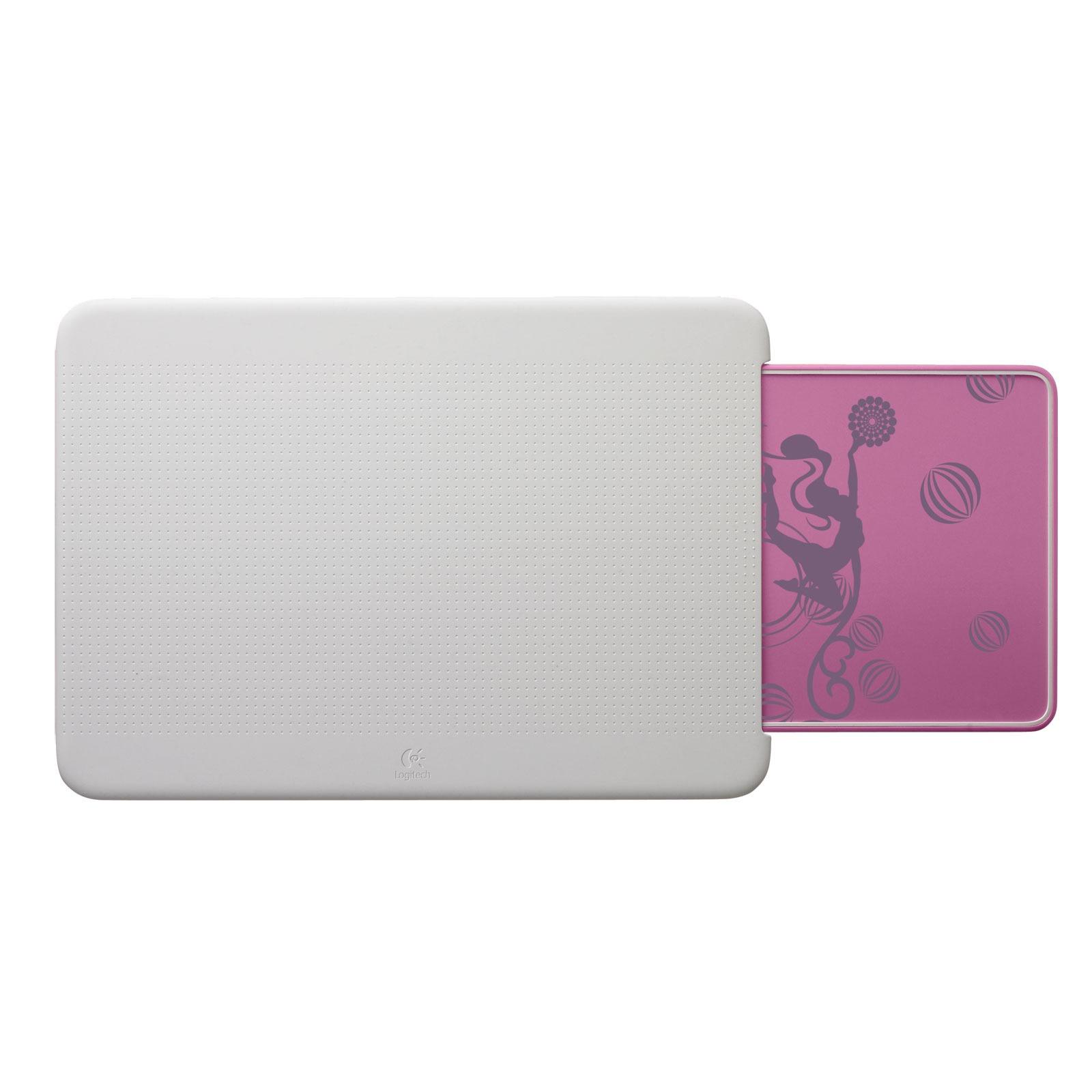 Accessoires PC portable Logitech Portable Lapdesk N315 Blanc/Rose Support ergonomique pour ordinateur portable