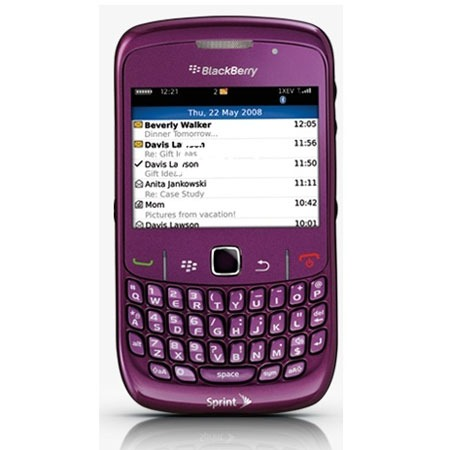 Blackberry curve 8520 violet mobile smartphone for Photo ecran blackberry