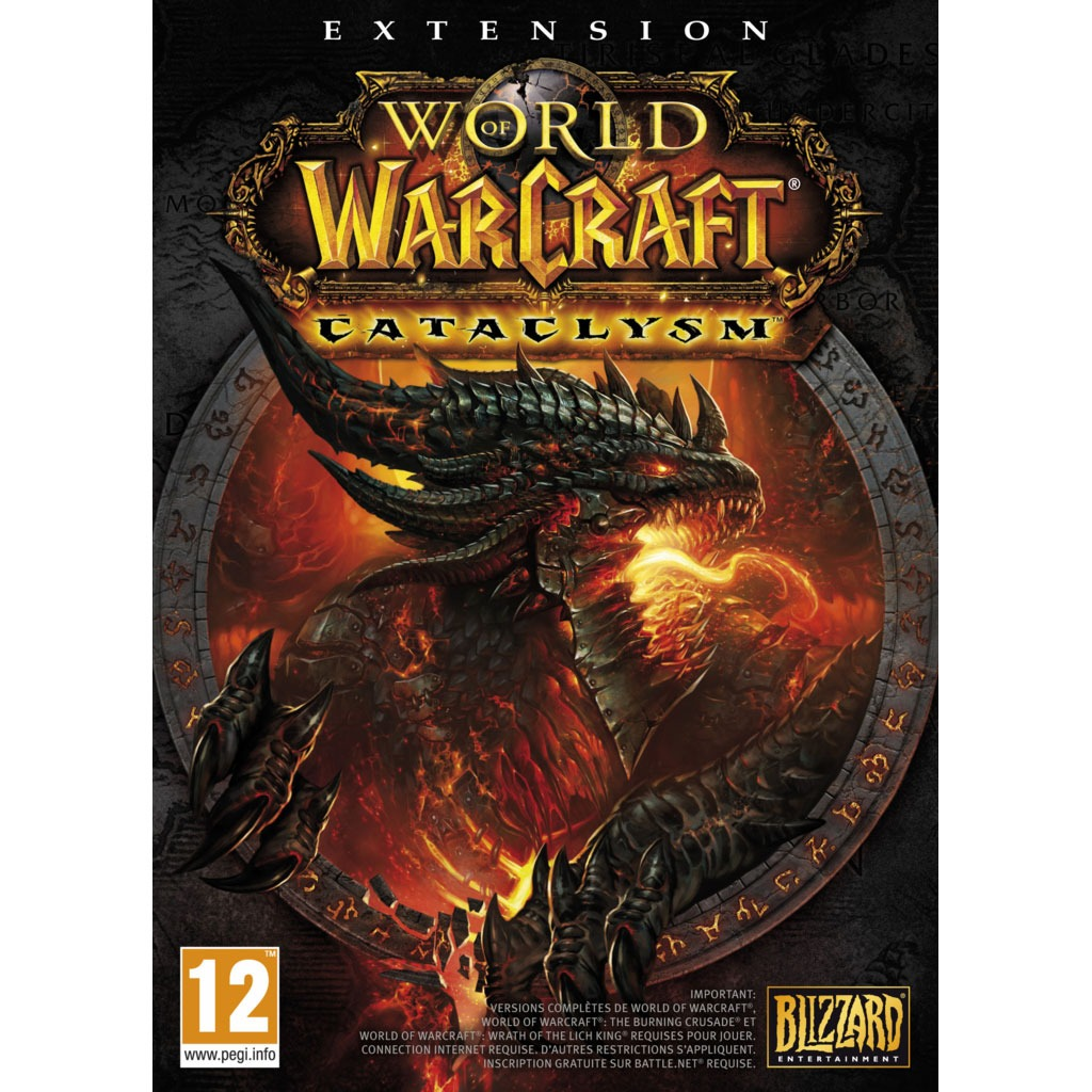 World of warcraft cataclysm pc add on pour world of warcraft jeux pc blizzard - World of warcraft sur console ...