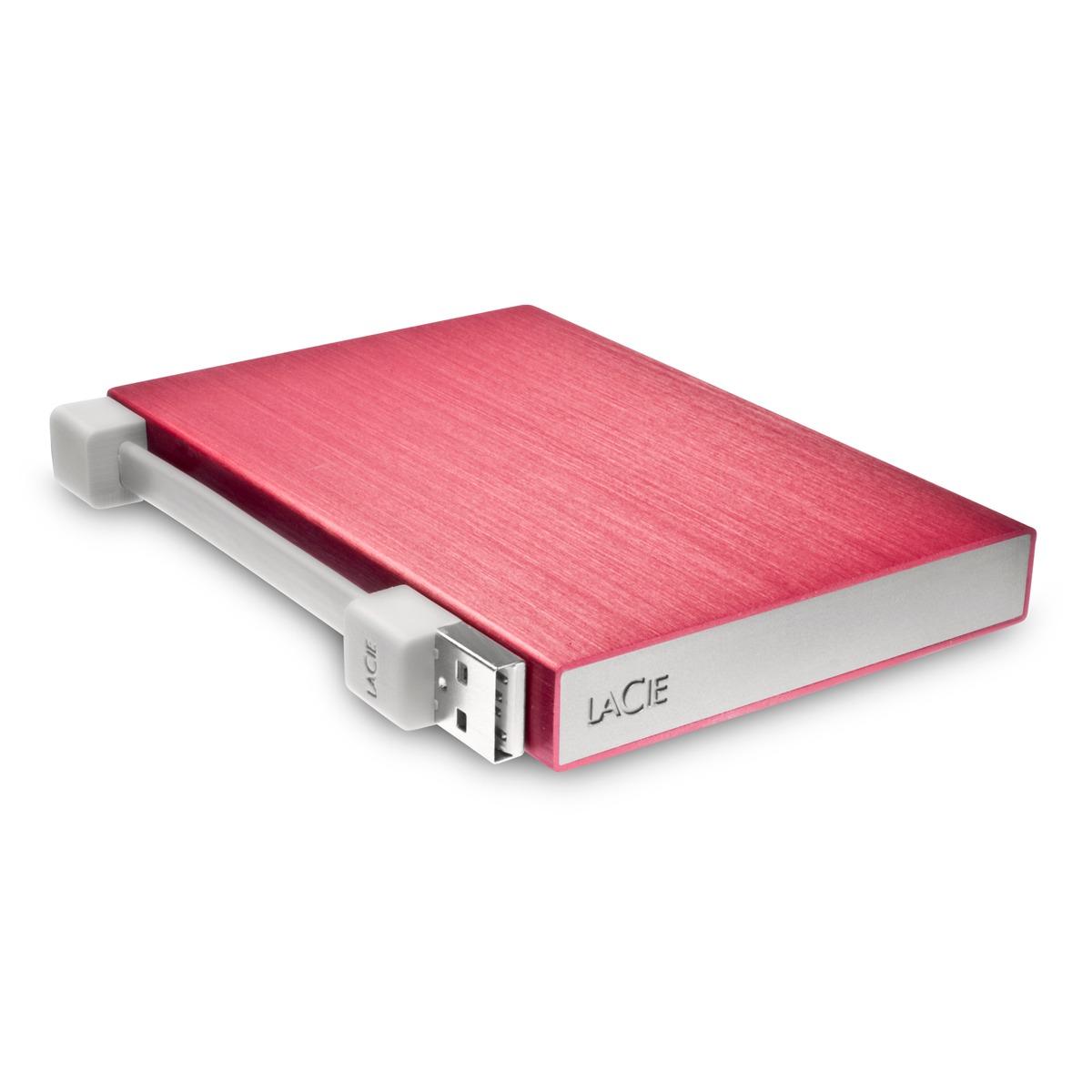 lacie rikiki go 500 go rouge disque dur externe lacie sur. Black Bedroom Furniture Sets. Home Design Ideas