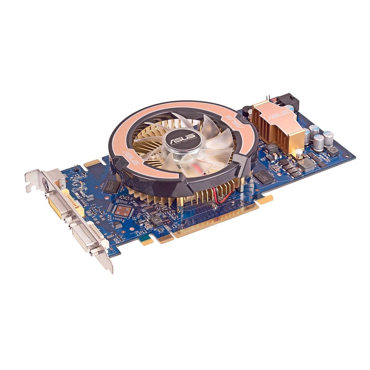 Carte graphique ASUS EN8800GT/HTDP/512M ASUS EN8800GT/HTDP/512M - 512 Mo - TV-Out/Dual DVI - PCI Express (NVIDIA GeForce 8800 GT)