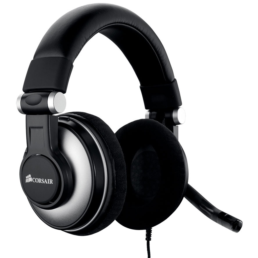 corsair hs1 usb gaming headset micro casque corsair sur. Black Bedroom Furniture Sets. Home Design Ideas