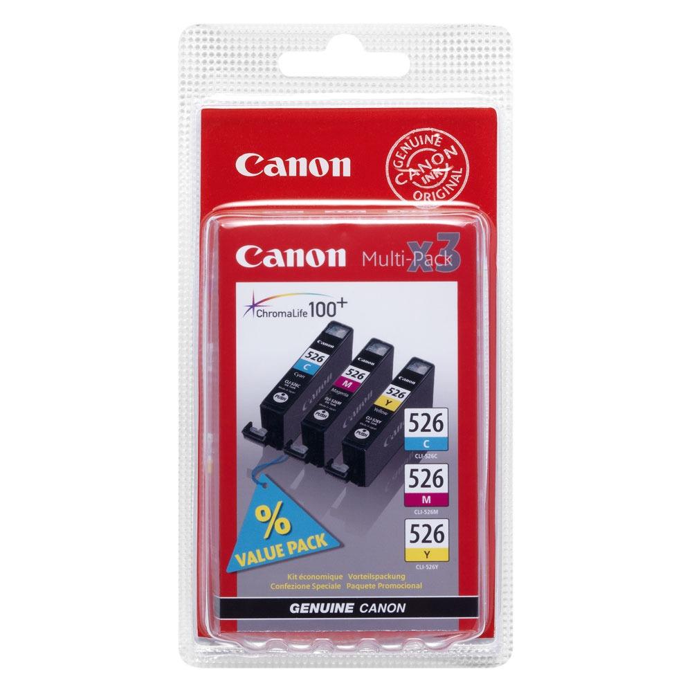 Cartouche imprimante Canon CLI-526 C/M/Y Multipack Canon CLI-526 C/M/Y Multipack - Cartouche d'encre cyan / magenta / jaune - Pack de 3