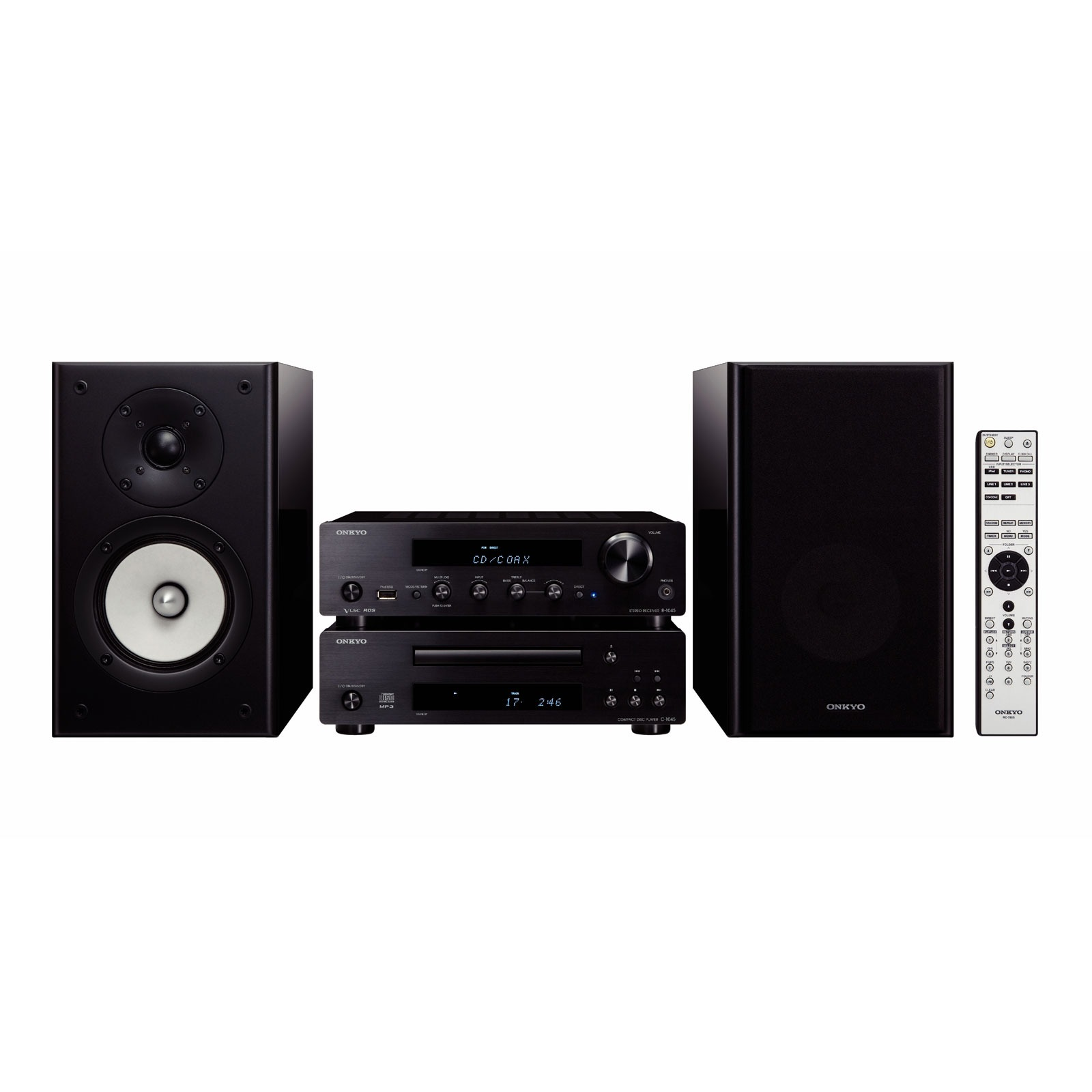 onkyo cs 1045 noir ensemble hifi onkyo sur. Black Bedroom Furniture Sets. Home Design Ideas