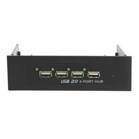 Hub USB / Firewire Hub USB 2.0 (4 ports) en façade dans baie 3.5'' ou 5.25'' Hub USB 2.0 (4 ports) en façade dans baie 3.5'' ou 5.25''