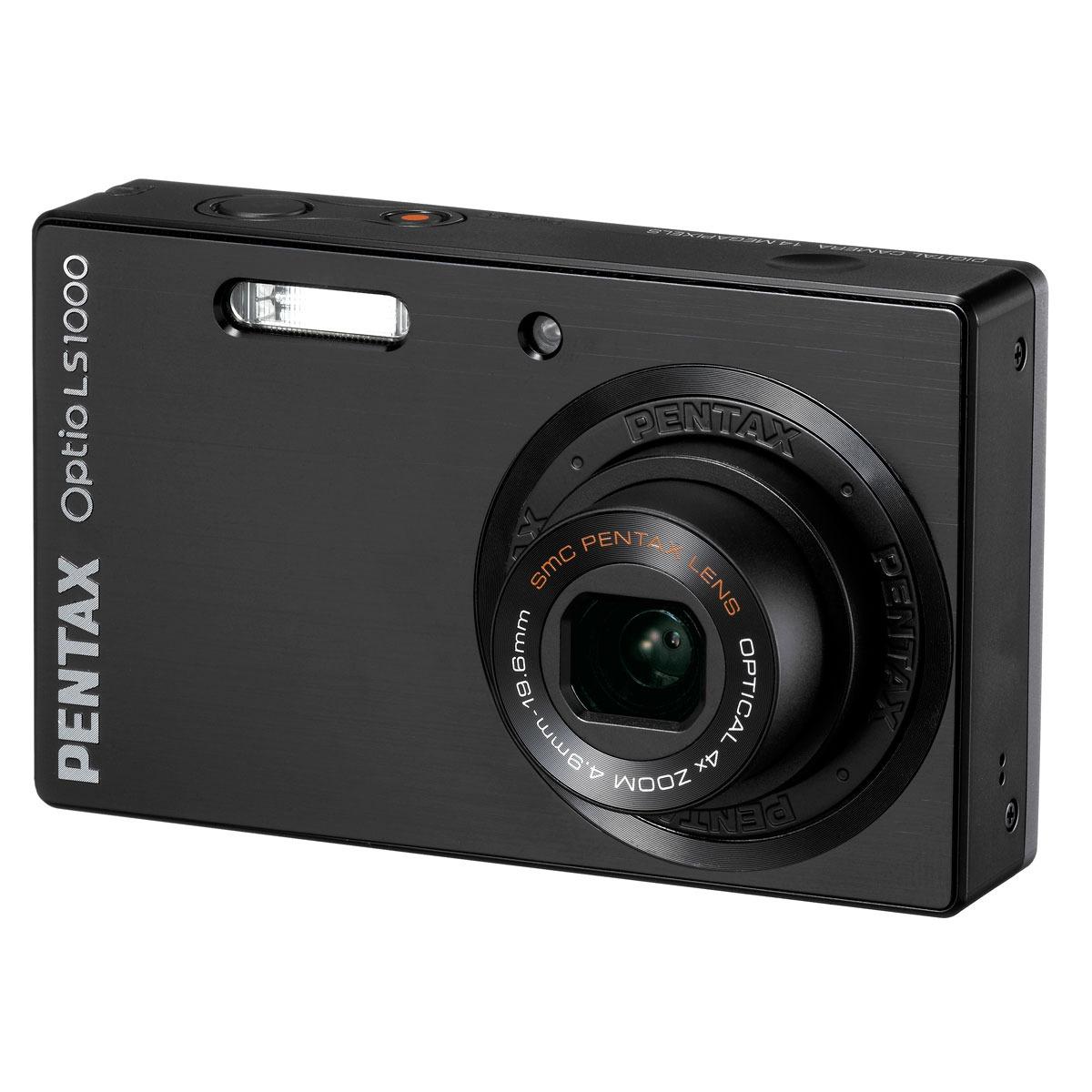 pentax optio ls1000 noir appareil photo num rique pentax. Black Bedroom Furniture Sets. Home Design Ideas