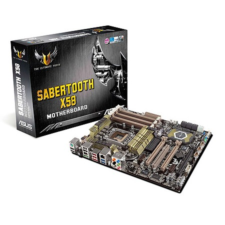 Carte mère ASUS SABERTOOTH X58 Carte mère ATX Socket 1366 Intel X58 Express (garantie 3 ans)