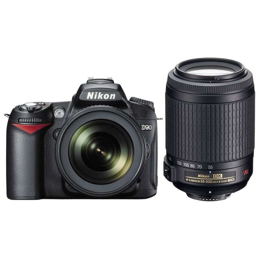Appareil photo Reflex Nikon D90 + Objectifs AF-S DX Nikkor 18-105mm f/3.5-5.6G ED VR + Nikkor AF-S VR DX 55-200 mm f/4-5.6G ED Nikon D90 + Objectifs AF-S DX Nikkor 18-105mm f/3.5-5.6G ED VR + Nikkor AF-S VR DX 55-200 mm f/4-5.6G ED