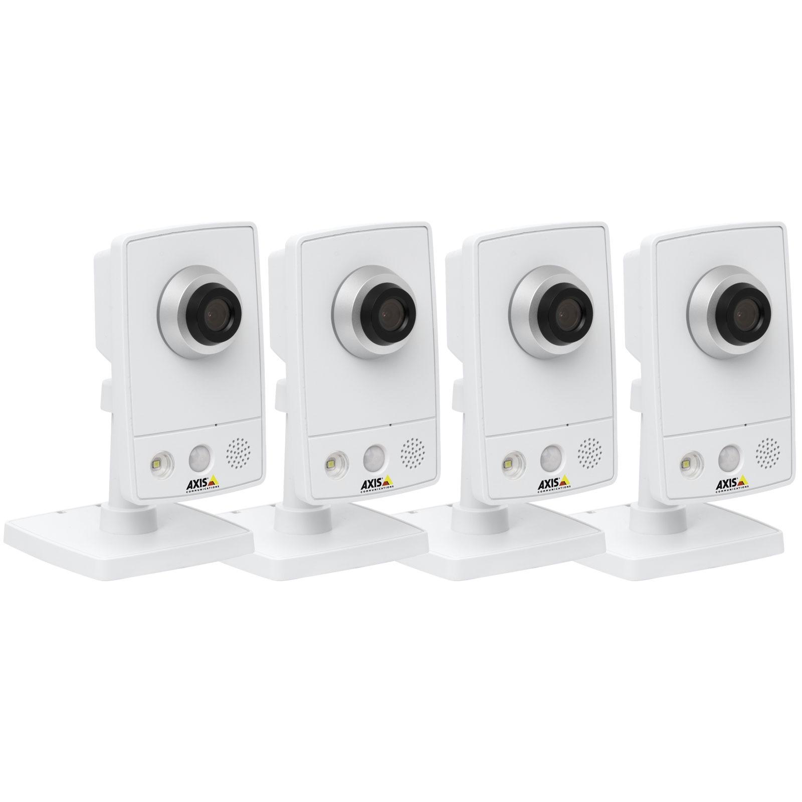 Caméra IP AXIS M1054 Surveillance kit AXIS M1054 Surveillance kit - Pack de 4 caméras réseau haute définition 720p PoE