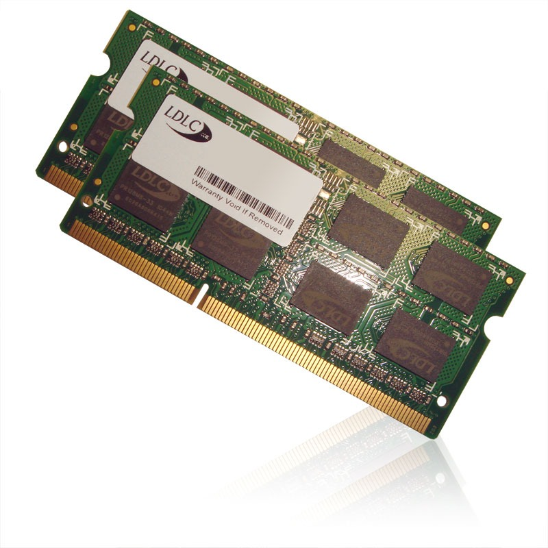 Mémoire PC portable LDLC SO-DIMM 4 Go (2x 2 Go) DDR3 1333 MHz CL9 Kit Dual Channel RAM SO-DIMM DDR3 PC10600