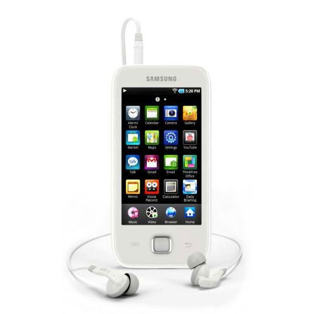 samsung galaxy play 50 16 go blanc lecteur mp3 ipod. Black Bedroom Furniture Sets. Home Design Ideas