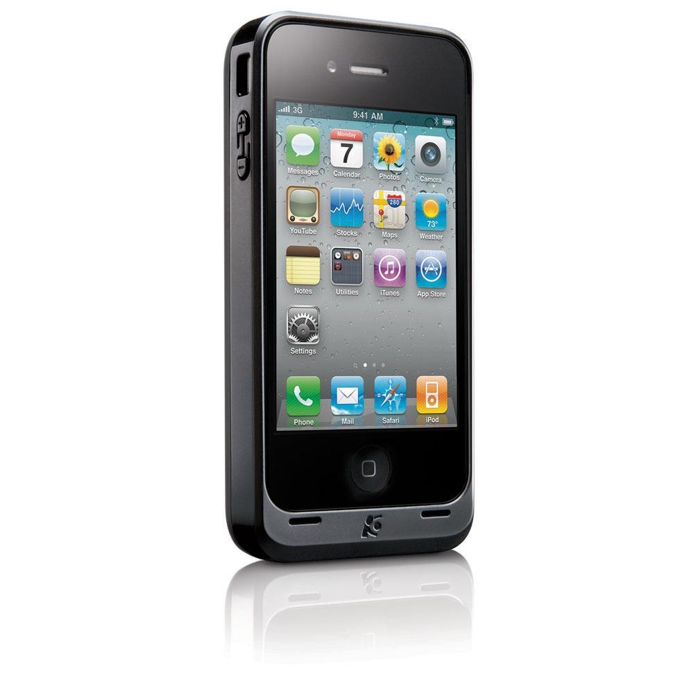 kensington powerguard onyx etui chargeur pour iphone 4 etui t l phone kensington sur. Black Bedroom Furniture Sets. Home Design Ideas